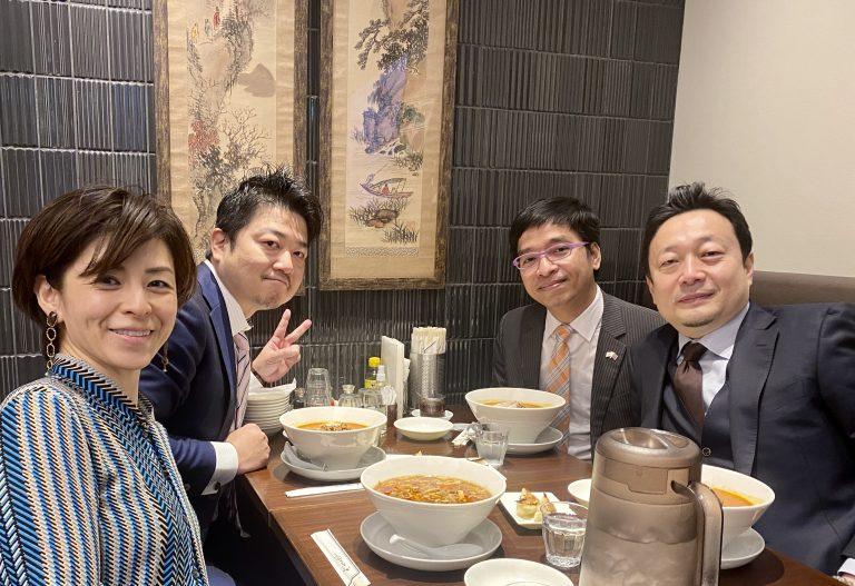 在京カンボジア大使館のヴァナリット参事官と昼食会