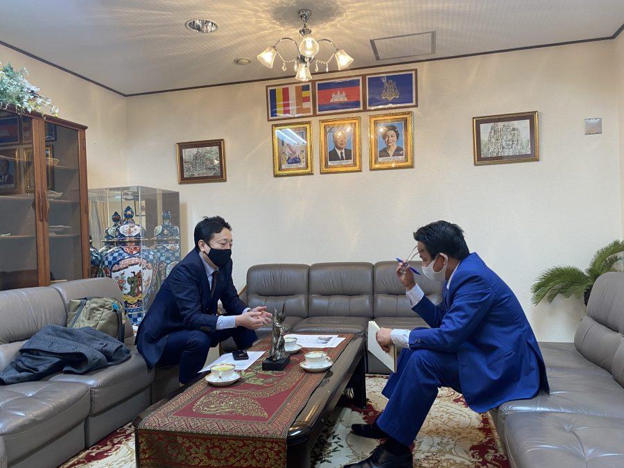 在京カンボジア 大使館での協議